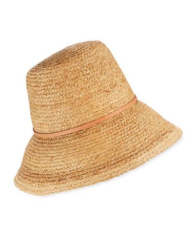 Beehive Raffia Bucket Hat