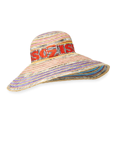 Multicolored Structured Hat w/ Logo Band