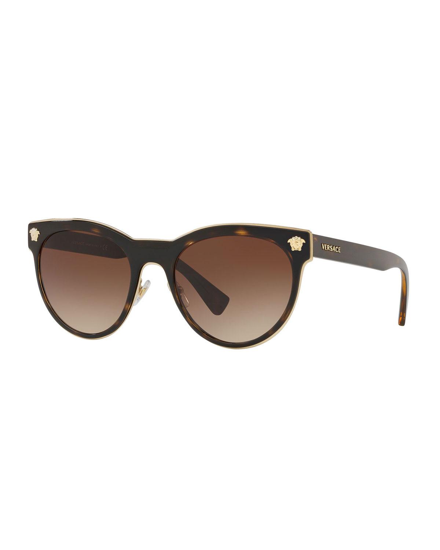f8b0ee50b3 Versace Round Metal Medusa Head Sunglasses
