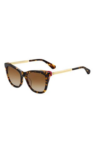 kate spade new york alexane rectangle sunglasses