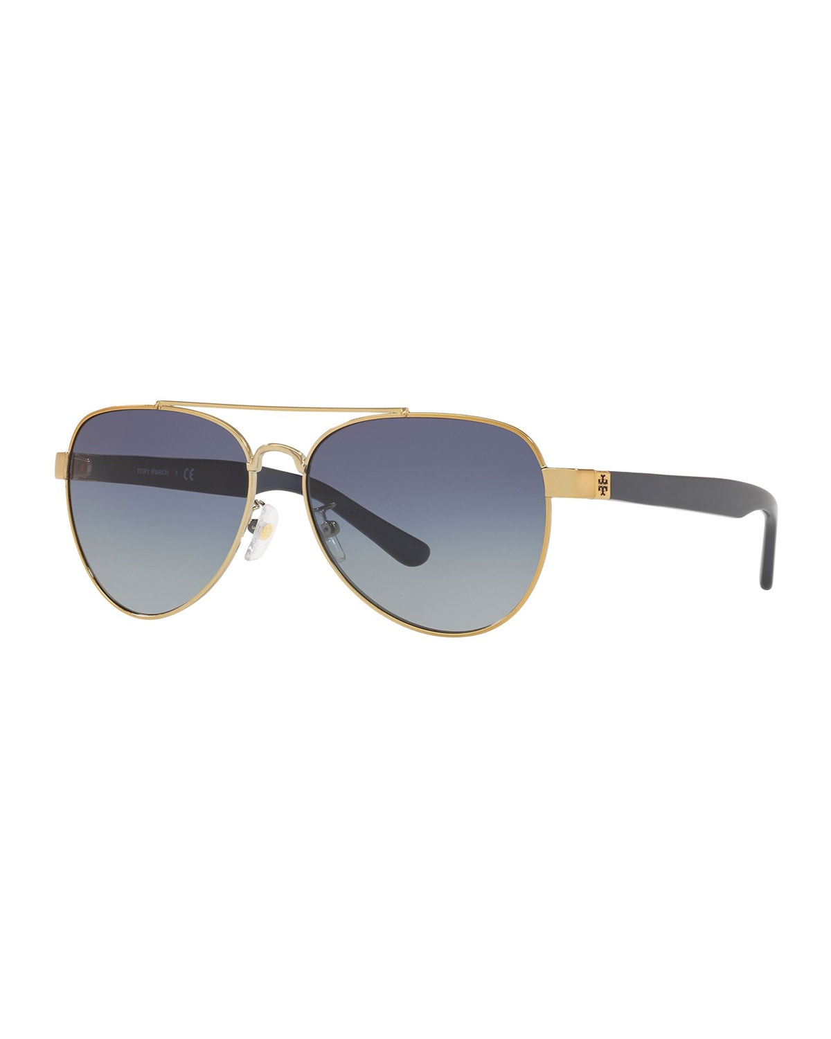 33df3d287c35 Tory Burch Mirrored Metal Aviator Sunglasses