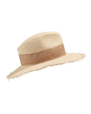 483ae31204232 Rag   Bone Frayed-Edge Panama Straw Hat