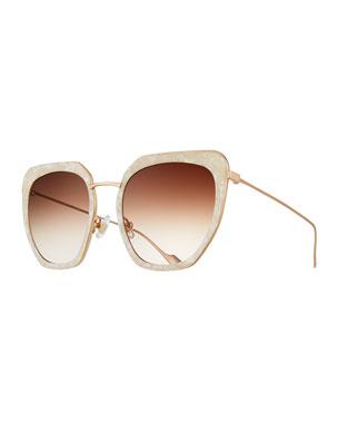 8f4d2a85881a4 Sunday Somewhere Silvia Marbled Acetate   Metal Square Sunglasses