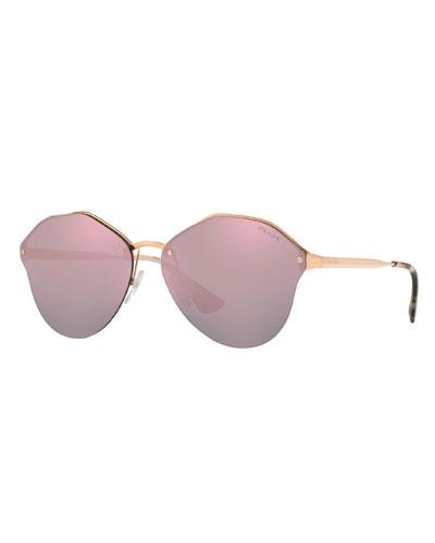 Rimless Square Mirrored Sunglasses