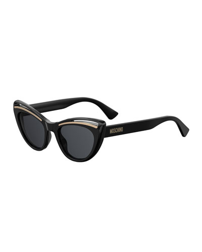 Cutout Cat-Eye Acetate Sunglasses