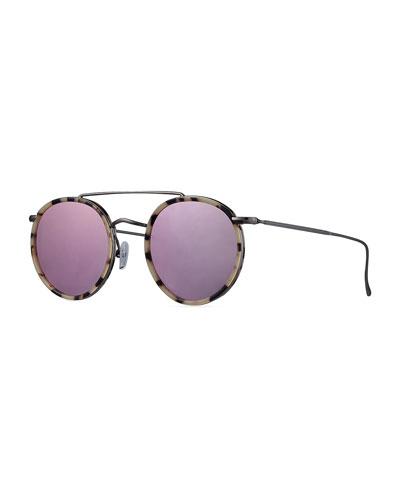 Allen Ace Acetate & Metal Round Sunglasses