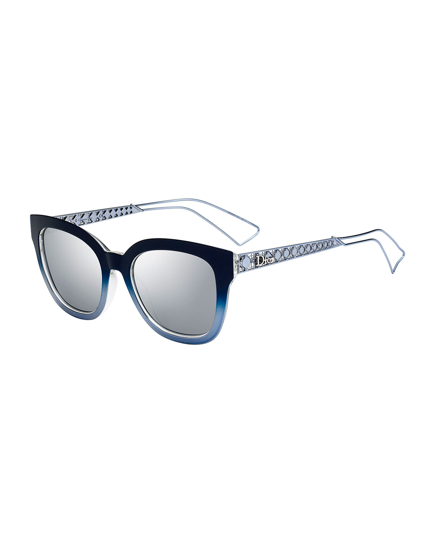 4dcfb2f892d8 Dior Diorama Caged Mirrored Sunglasses | Neiman Marcus