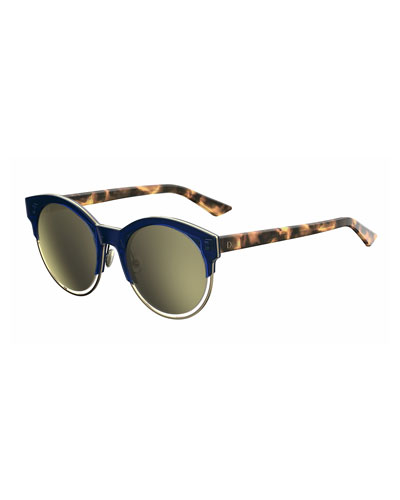 Sideral 1 Cat-Eye Sunglasses  Havana/Rose