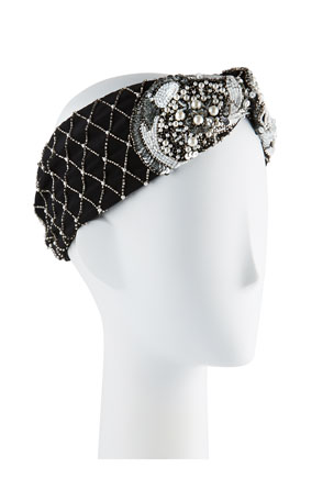 Mignonne Gavigan Le Charlot Beaded Turban Headband