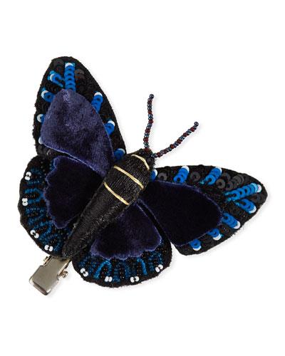 Beaded Butterfly Hair Clip