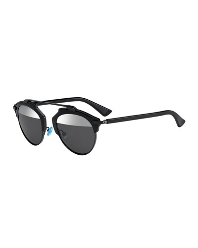 So Real Brow Bar Sunglasses  Black