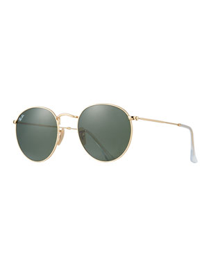 cd133f20a4 Ray-Ban Round Monochromatic Metal Sunglasses