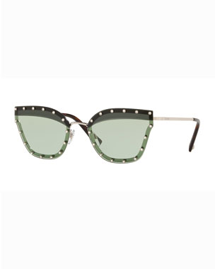916a3633e6b4 Valentino Crystal Embellished Butterfly Sunglasses