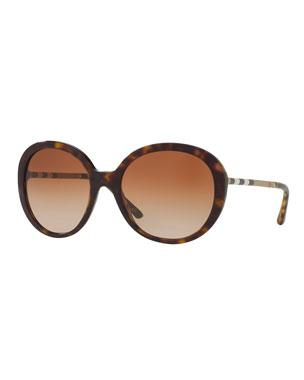 7e2ed2d3d9ac Burberry Check-Temple Gradient Butterfly Sunglasses