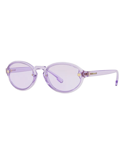 Oval Transparent Propionate Sunglasses