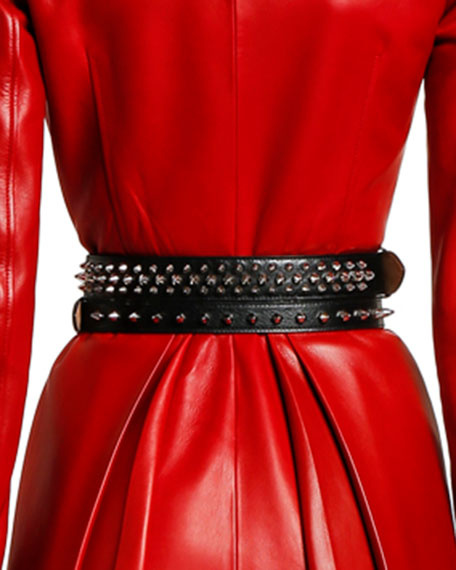 Alexander McQueen Double-Wrapped Studded Belt