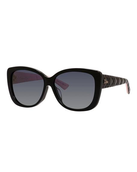 Pink Black 59mm Cat Sunglasses Lady Eye IY67vgybf
