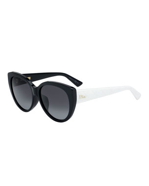 0c65efde84 Dior Lady1NFS Two-Tone Acetate Round Sunglasses