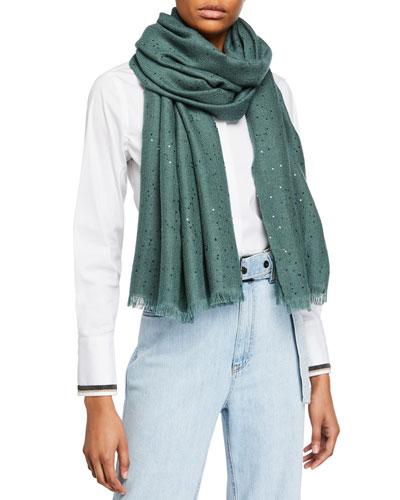 Cashmere/Silk Paillettes Scarf