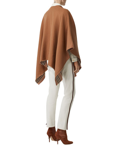 Burberry Heritage Striped Solid Cape