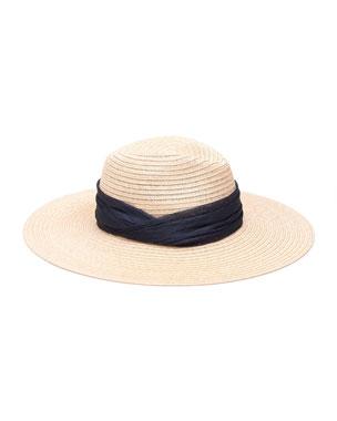 53159c7ec77d3 Eugenia Kim Emmanuelle Woven Sinamay Fedora Hat