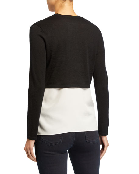 Neiman Marcus Cashmere Collection Cashmere Long-Sleeve Shrug
