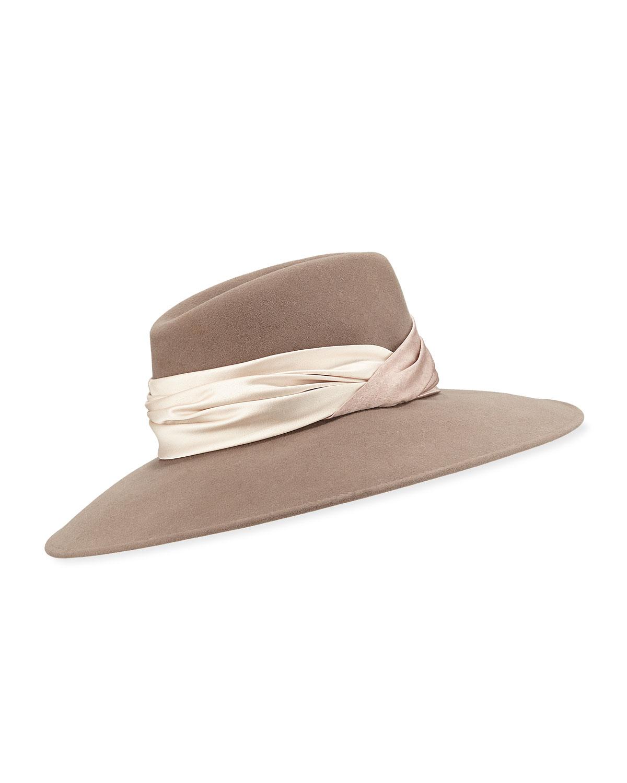 a55499a8abe5e Eugenia Kim Emmanuelle Wool Fedora Hat   Neiman Marcus