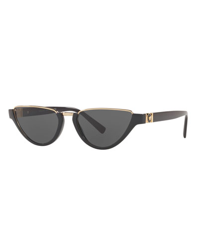 Monochromatic Medusa Head Rectangle Sunglasses