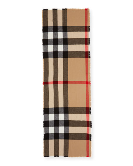 Burberry Washed Mega Check Scarf