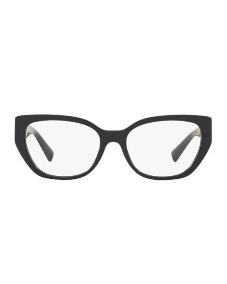 Valentino Rectangle V Temples Optical Frames