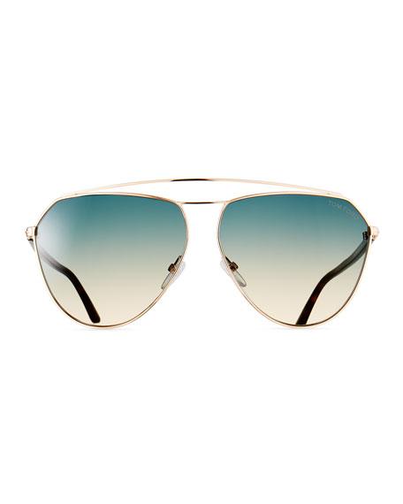 TOM FORD Metal Gradient Aviator Sunglasses