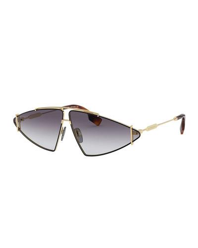 Metal Triangle Shield Sunglasses