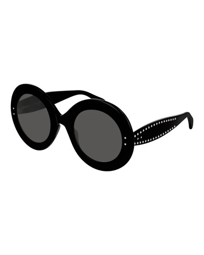 Round Studded Acetate Sunglasses