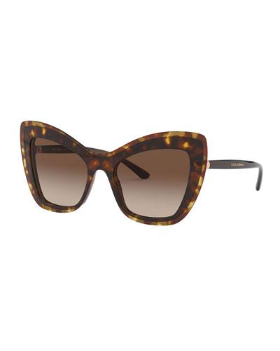 Acetate Cat-Eye Gradient Sunglasses