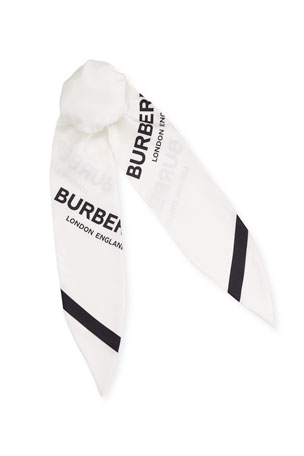 Burberry Logo Silk Foulard Chignon