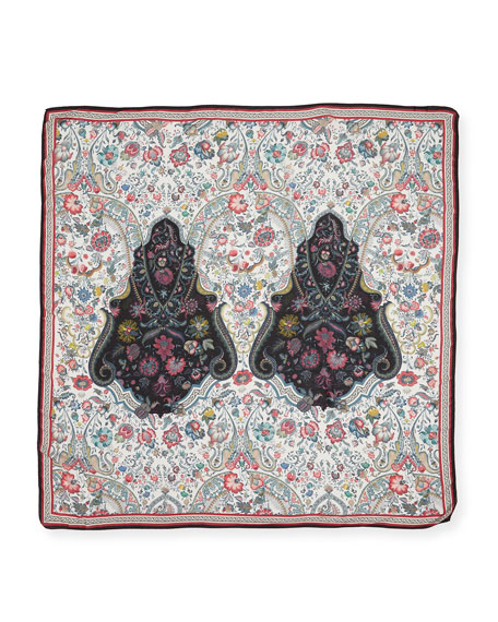 Etro Floral Medallion-Print Scarf