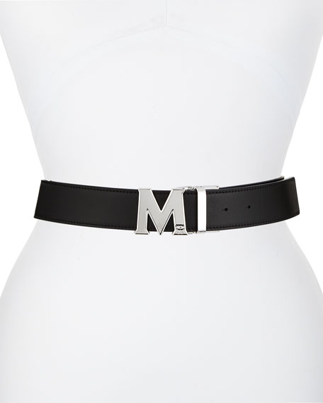 MCM Claus Gradation Reversible Visetos Leather Belt