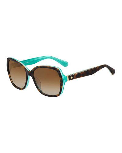 karalyns square two-tone sunglasses