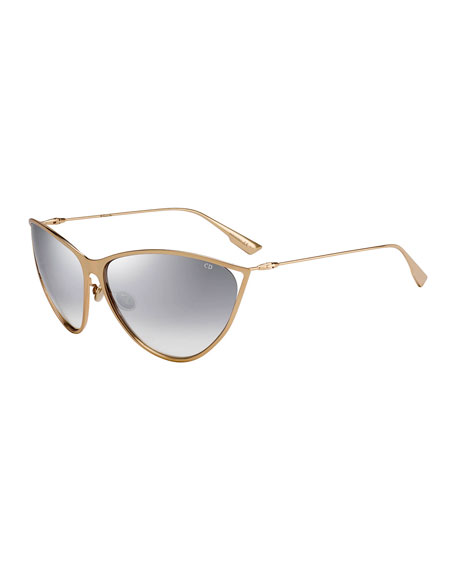 Dior New Motards Mirrored Metal Butterfly Sunglasses