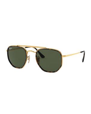 8065b39549540 Ray-Ban Rectangle Steel Monochromatic Sunglasses