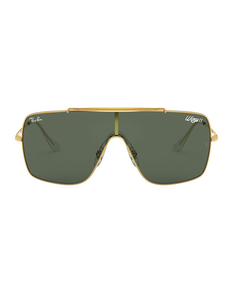 Ray-Ban Monochromatic Shield Metal Sunglasses