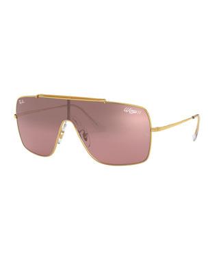abe614f8b Ray-Ban Mirrored Shield Metal Sunglasses