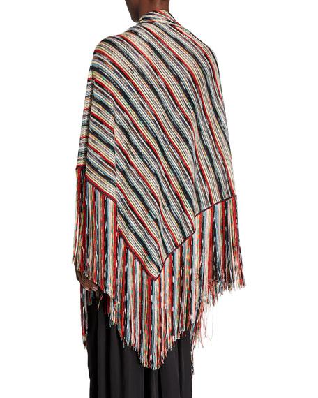 Missoni Multicolor Striped Wrap with Fringe