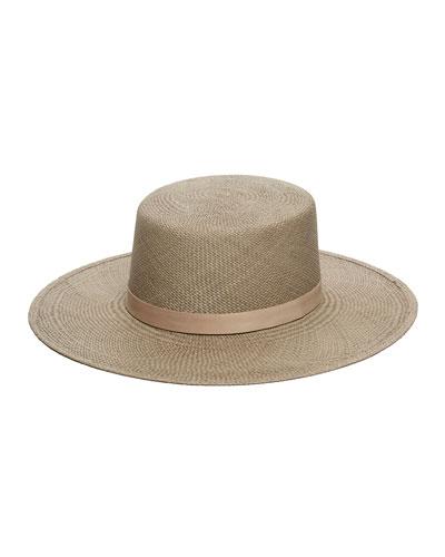 Rena Panama Straw Hat w/ Leather Band