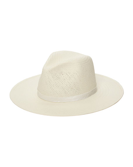 Janessa Leone AIMEE PACKABLE STRAW FEDORA HAT
