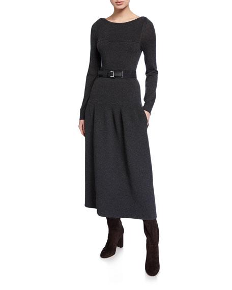 Loro Piana Wide Suede & Leather Belt