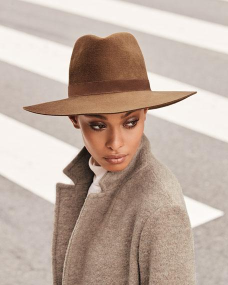 Janessa Leone Harper Wool Fedora Hat