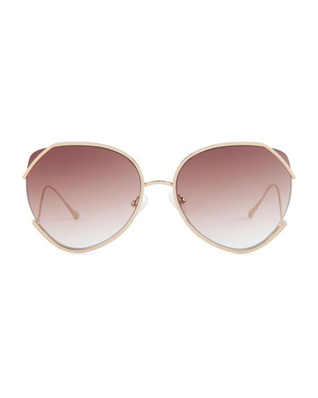 For Art's Sake Semi-Rimless Square Sunglasses