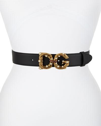 Vintage Queen DG Amore Leather Belt