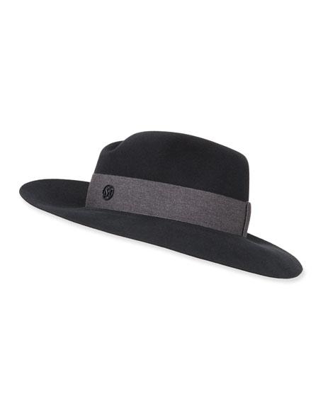 Maison Michel Virginie Rabbit Felt Fedora Hat